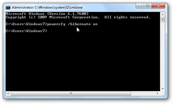 Disabling Windows 7 Hibernation, or How to Disconnect a Computer