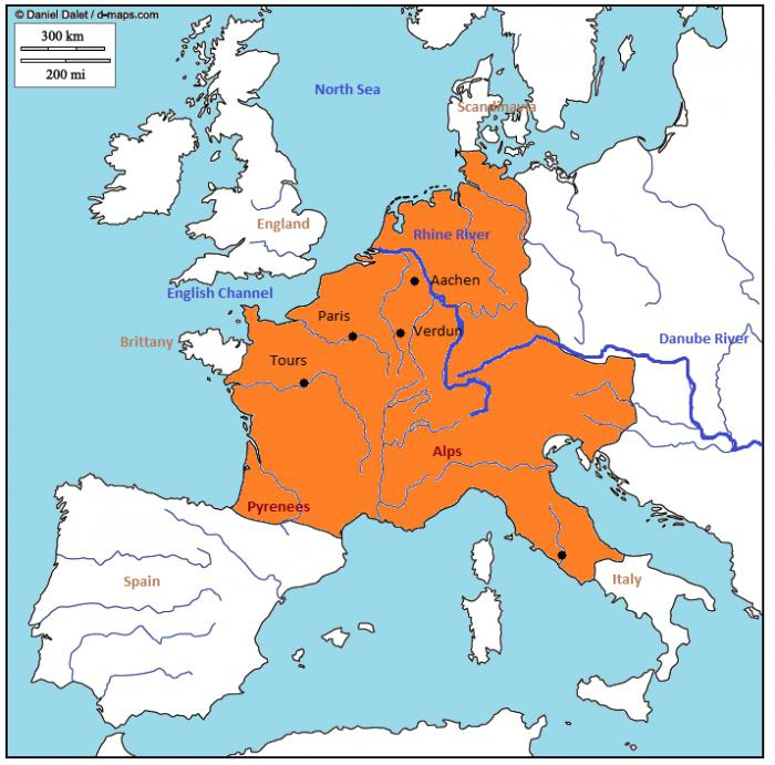 How many years the Frankish Empire survived - the history of the new Western Roman Empire