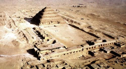 The ancient pyramid of Djoser - one of the most famous world sights